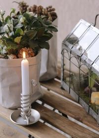 Скандинавский подсвечник для высокой свечи Dana Silver Lene Bjerre фото