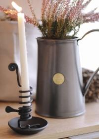 Скандинавский подсвечник для высокой свечи в стиле рустик Dana Black Lene Bjerre фото