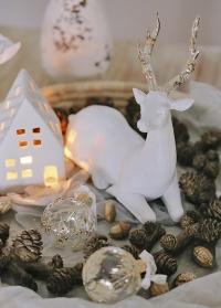 Фигурка рождественского оленя Lene Bjerre (Дания) - новогоднее интерьерное украшение фото
