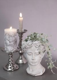 Скульптура кашпо для цветов голова Flavia Lene Bjerre фото