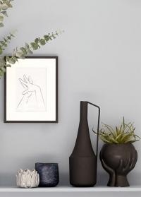 Дизайнерское цветочное кашпо из черной керамики Hanya Black от Lene Bjerre фото