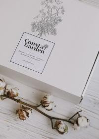 Подарочная коробка из белого крафта большая Consta Garden фото