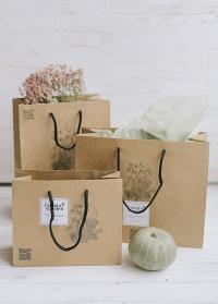 Подарочный крафт пакет от Consta Garden фото - упаковка для подарков садоводам и дачникам