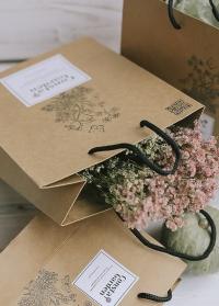 Крафт пакет подарочный от Consta Garden для упаковки подарка для дома и сада