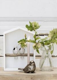 Пасхальный подсвечник фигурка птички Antique Gold Semina Lene Bjerre фото