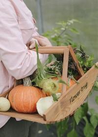 Корзина деревянная для сбора цветов и трав Esschert Design NG80 фото