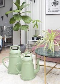 Дизайнерская лейка-кофейник для цветов 8 литров Lungo Old Green Xala фото