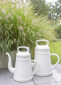 Дизайнерская пластиковая лейка для цветов 8 литров Lungo Light Grey Xala фото