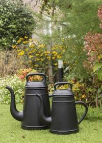 Дизайнерская пластиковая лейка для цветов 8 литров Lungo Black от Xala фото