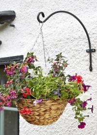 Кронштейн для цветочного кашпо полукруглый металлический 20 см Round Smart Garden картинка