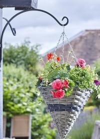 Настенный кронштейн для кашпо полукруглый металлический 28 см Round Smart Garden картинка