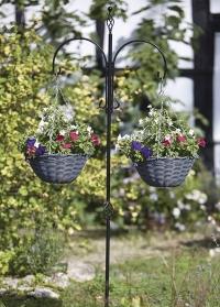 Декоративный двойной держатель для цветочных кашпо Smart Garden картинка