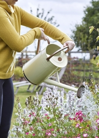 Лейка садовая металлическая для полива цветов 9 л. Cream Smart Garden фото