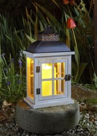 Подсвечник-фонарь декоративный деревянный Minster by Outside In Smart Garden фото
