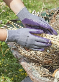 Перчатки садовые обливные нитрилом Aubergine от Briers фото