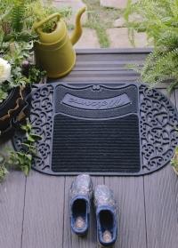 Придверный коврик резиновый Welcome RB238 голландского бренда Esschert Design фото