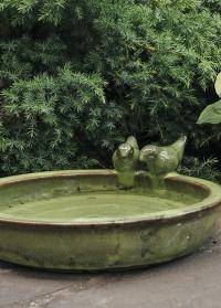 Керамическая купальня для птиц для дачи и сада Green FB489 Esschert Design фото