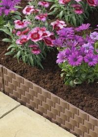 Ограждение для клумб и цветников из пластиковых панелей Faux Rattan от Smart Garden фото