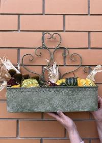 Настенное металлическое кашпо для растений AM100 Aged Metal Esschert Design фото