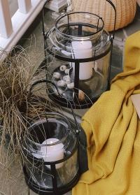 Подсвечник-фонарь напольный для большой свечи WL69 Esschert Design фото