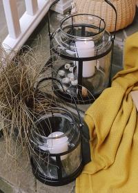 Подсвечник-фонарь стеклянный для большой свечи WL68 Esschert Design фото