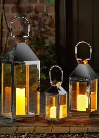 Набор металлических подсвечников-фонарей Stockholm 3 шт. by Outside In Smart Garden фото