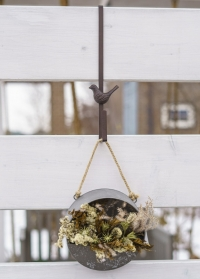 Кронштейн на дверь для флористического венка Птичка LH280 Esschert Design фото