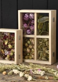Декоративная стеклянная рамка-бокс для сухоцветов ML037 Esschert Design фото