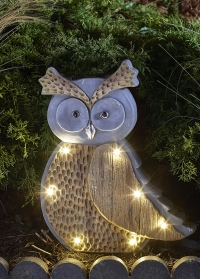 Декоративная садовая фигурка на солнечной батарее Сова Smart Garden фото