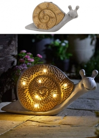 Садовый светильник на солнечной батарее фигурка Улитка Smart Garden фото