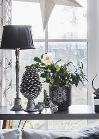 Подсвечник новогодний стеклянный стакан Frostine Snow Lene Bjerre фото