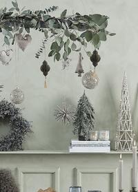 Скандинавский новогодний подсвечник Frostine Bird White Lene Bjerre фото