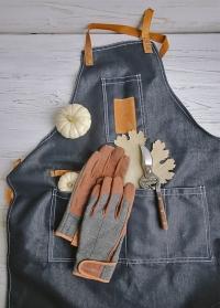 Подарок мужчине для дома и дачи Denim - фартук джинсовый, секатор, перчатки мужские в интернет-магазине Consta Garden фото