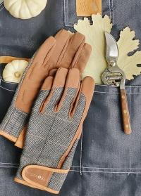 Подарок мужчине-садоводу Tweed and Wood от Consta Garden - мужские защитные перчатки, садовый секатор Burgon & Ball