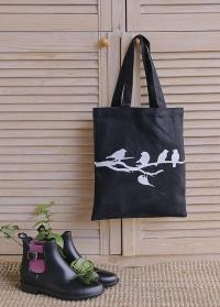 Сумка-шоппер из хлопка Птицы на ветке TP254 Esschert Design фото