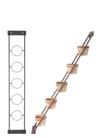 Декоративная лестница для растений с пятью терракотовыми горшками AT44 Esschert Design фото