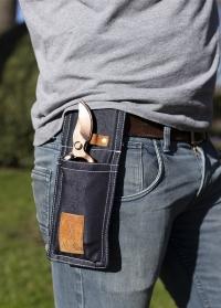 Чехол из джинсовой ткани на пояс для садового секатора Denim GT154 Esschert Design фото