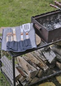 Набор инструментов барбекю в чехле-сумке из джинсовой ткани GT196 Esschert Design фото