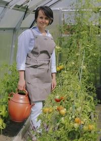 Фартук садовый из вощеной ткани с карманами для садоводов и флористов Waxed GT207 от Esschert Design фото