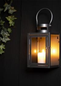 Стильный фонарь-подсвечник настенный металлический WL63 от Esschert Design фото