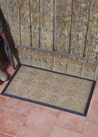 Придверный грязезащитный коврик на резиновой основе Chequered Smart Garden фото