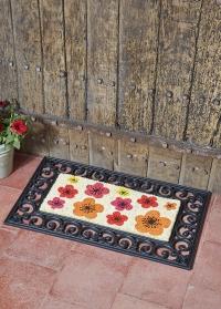 Кокосовый коврик на резиновой основе для прихожей Flower Power Smart Garden фото