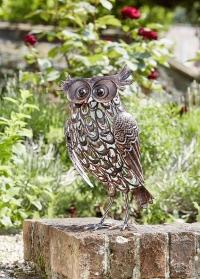 Декоративная металлическая садовая фигурка на солнечной батарее Сова Giant Owl от Smart Garden фото