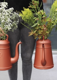 Голландская дизайнерская пластиковая лейка для полива цветов 12 литров Lungo Copper Xala фото