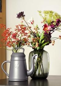 Голландская дизайнерская садовая лейка-кофейник 8 л. XALA Lungo Slate Grey фото