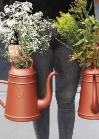 Голландская дизайнерская садовая лейка-кофейник 8 л. XALA Lungo Copper фото