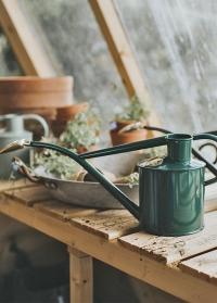Лейка английская HAWS Green Rowley Ripple & Brass фото