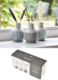 Набор 3-х миниатюрных вазочек Dotty Mini Trio Burgon & Ball GIG/DOTVASETRIO фото