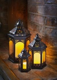 Набор подсвечников-фонарей 3 шт. Sahara Lanterns Trio Smart Garden фото