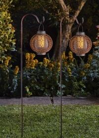 Декоративные садовые фонари на солнечной батарее - набор 2 шт. Forli Smart Garden фото